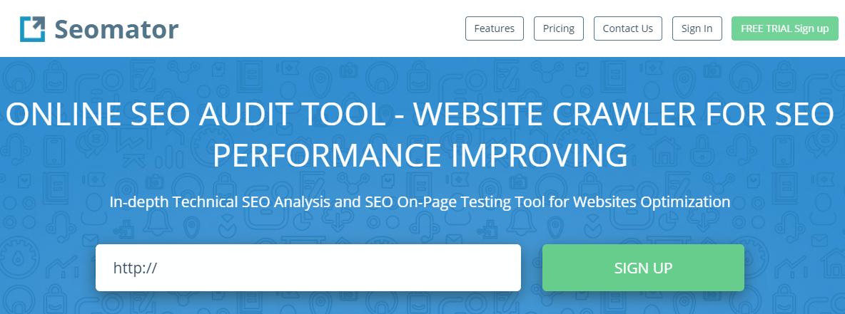 Seomator online seo audit tool