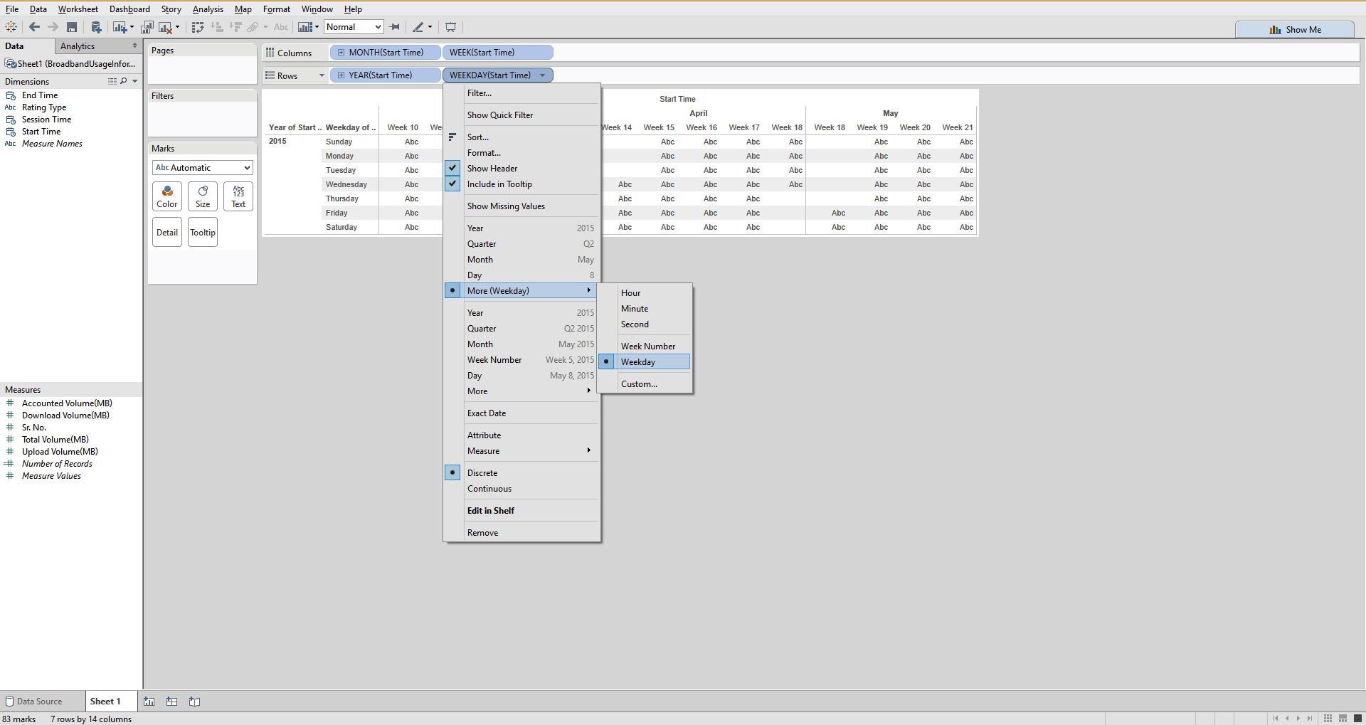 Tableau Tutorial: How to create Calendar Heat Map in Tableau