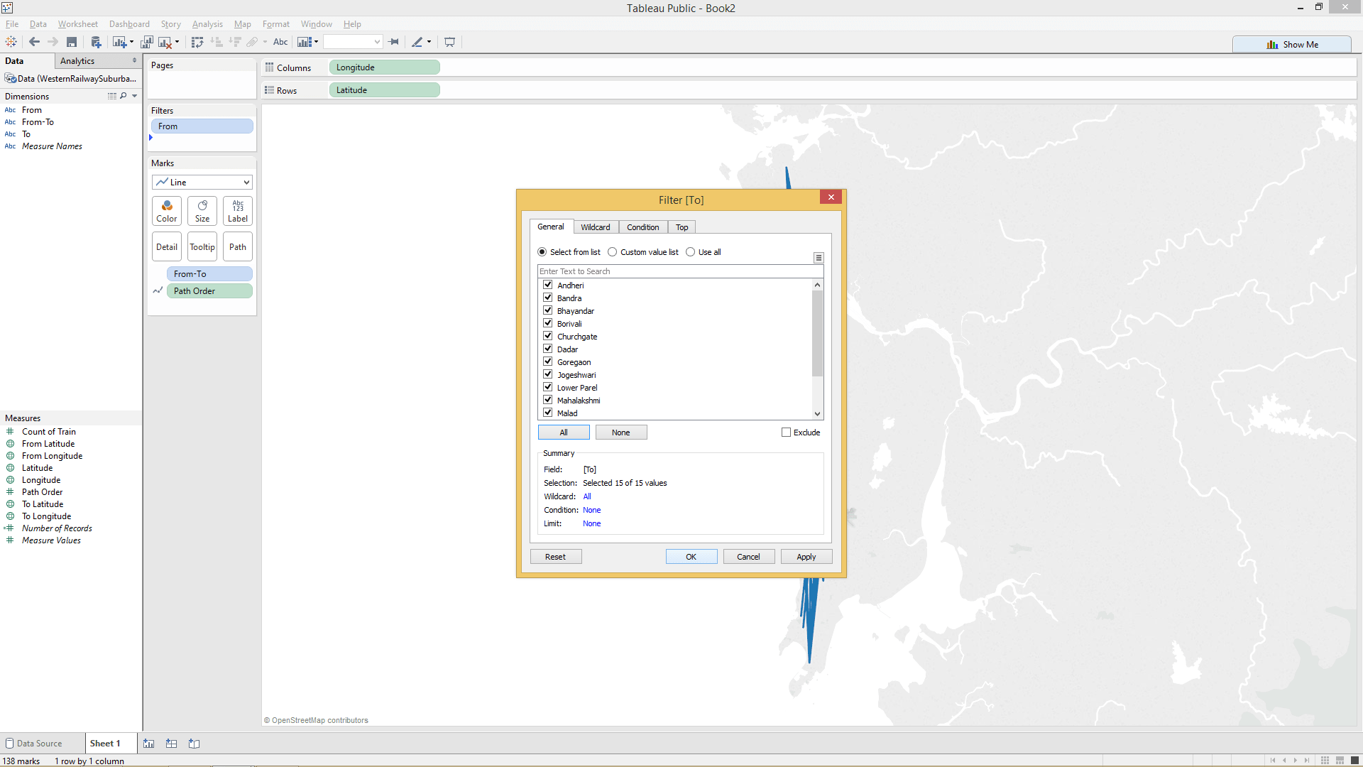 adding filters in tableau