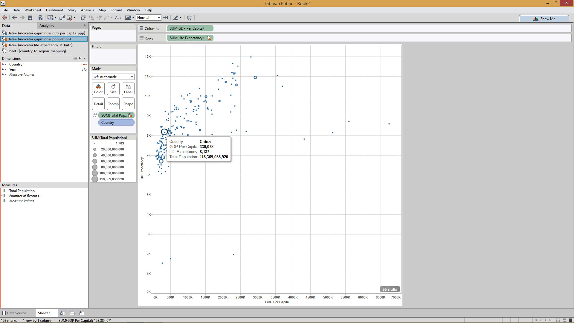 steps for adding animation  in tableau