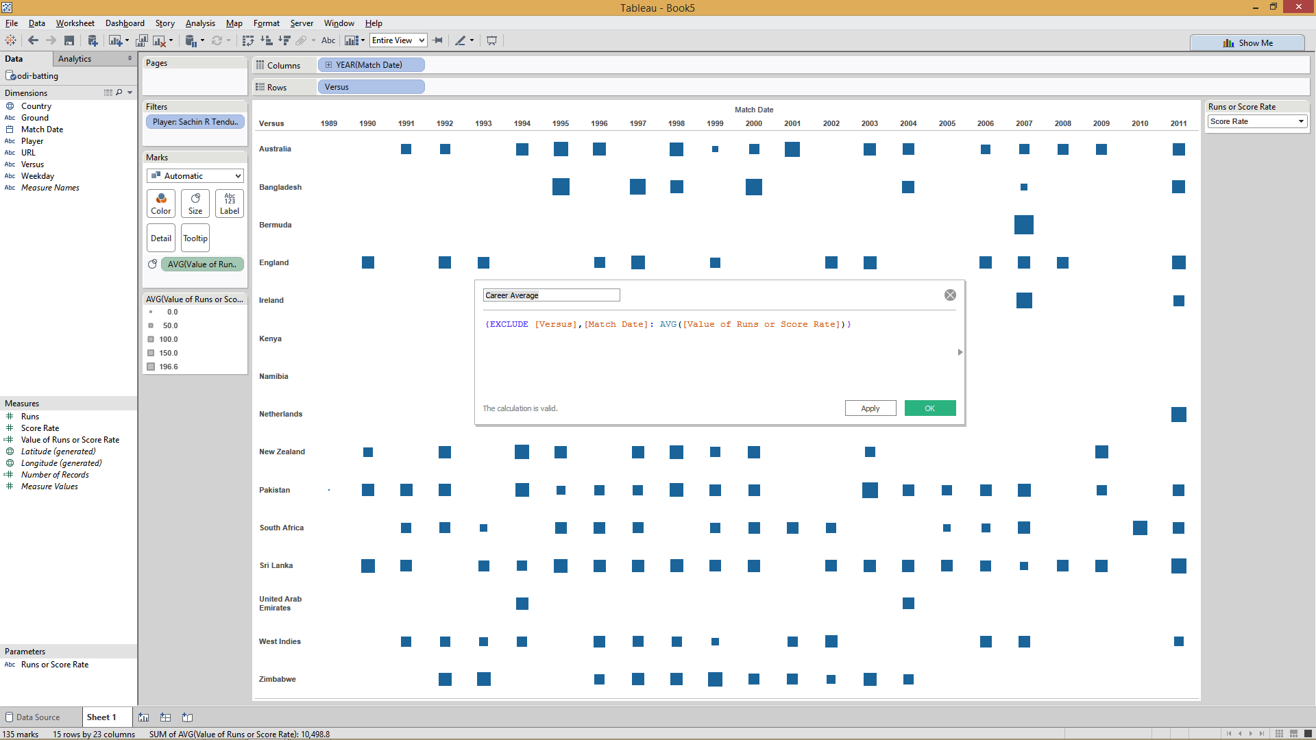 creating EXCLUDE LOD  expression in Tableau