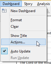 creating URL action for dashboard in tableau
