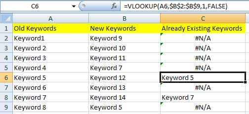 Using VLOOKUP in PPC marketing