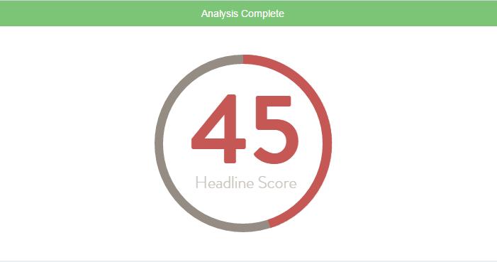 using headline analyzer