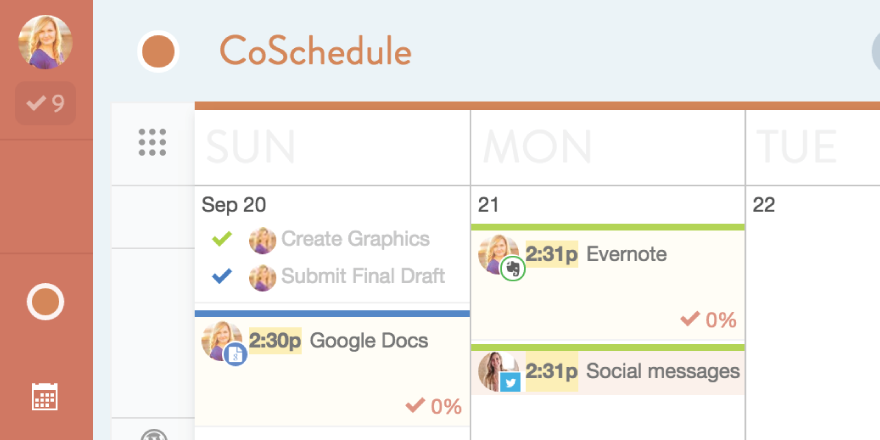using CoSchedule