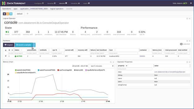 Apache Apex UI  console