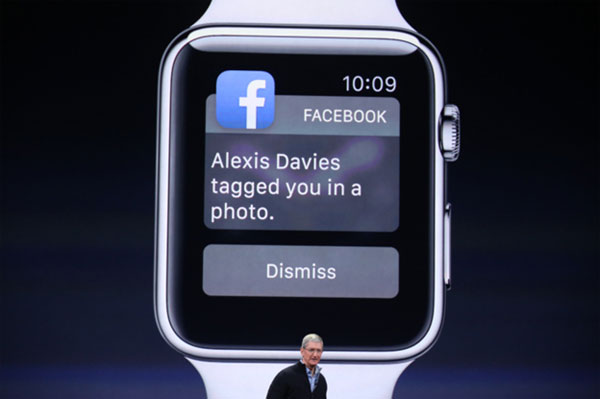 Facebook on Apple watch