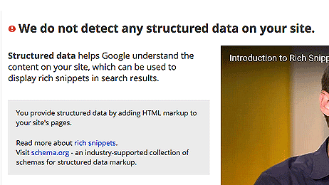 structured data in Google Webmasters