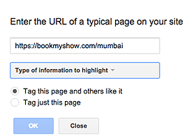 data  highlighting in Google Webmasters