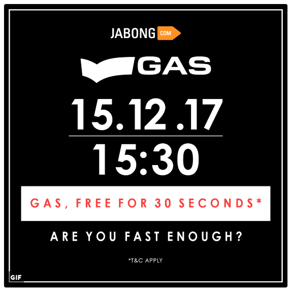 GAS – FREE for 30 Seconds: Are You Fast Enough?