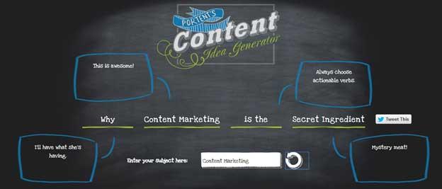 Portent Content Idea Generator Tool