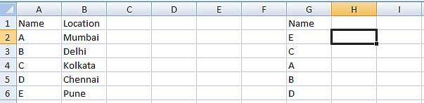 Using VLOOKUP function in Excel