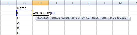 Filling lookup_value in VLOOKUP