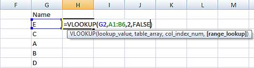 Using range_lookup in VLOOKUP formula