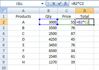 How to keep certain values constant in Excel formulas: Cell Referencing