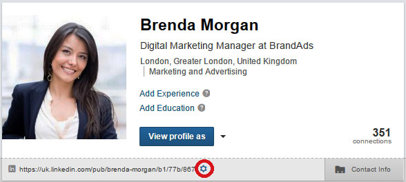 Changing URL of  LinkedIn profile