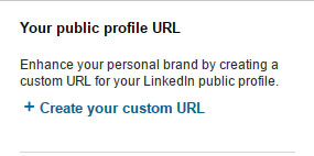 creating custom URL  on LinkedIn
