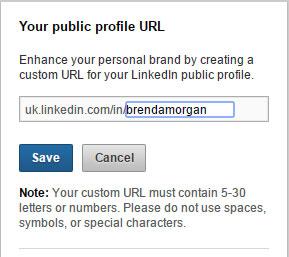 setting URL for  LinkedIn