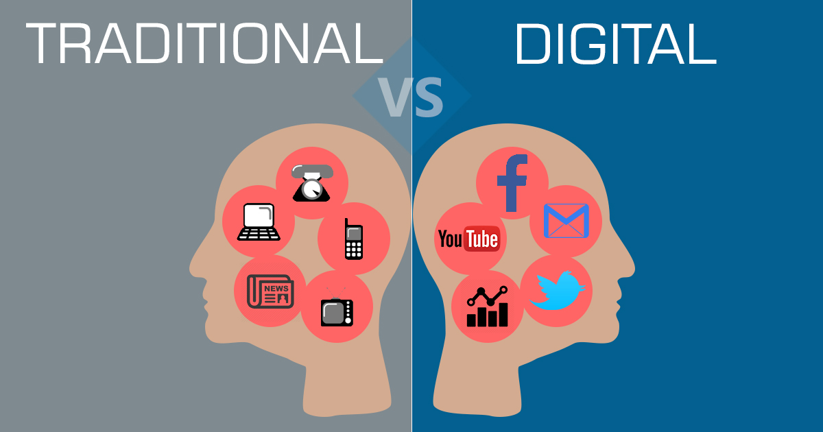 Image result for digital marketing vs traditional marketing