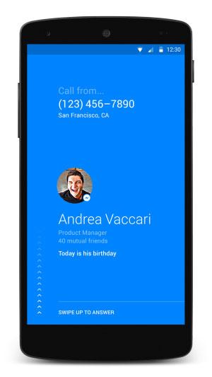 Facebook Caller id app