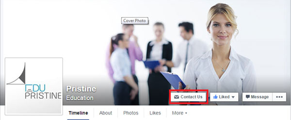 Call to Action button on facebook