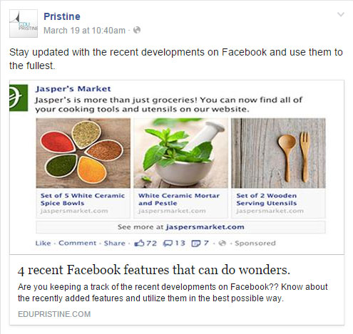Adding website link in Facebook post