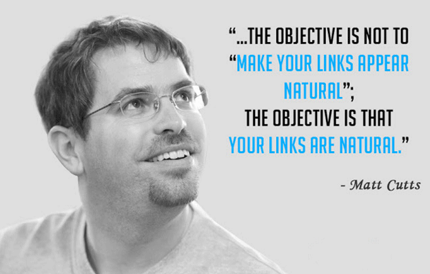 Quote on link building