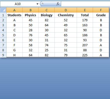 hiding rows in Excel
