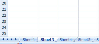 hiding sheet in excel