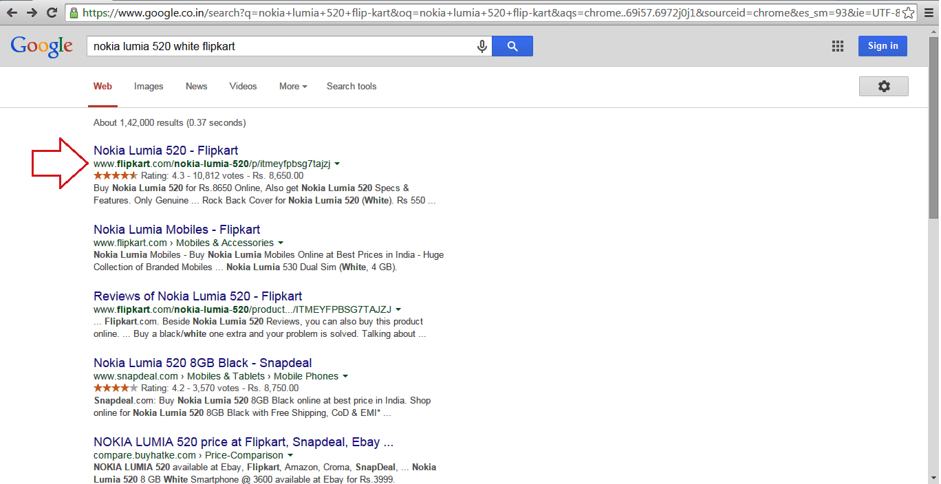 best authentic 2775a 41ed0 How Flipkart uses canonical tags to avoid Duplicate content issues