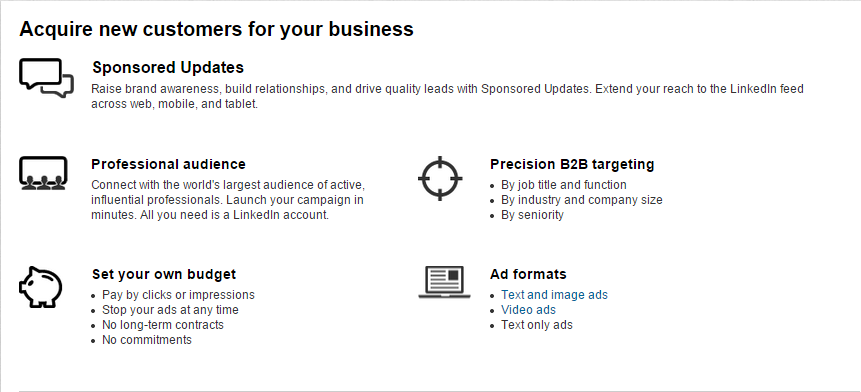 advertising on LinkedIn