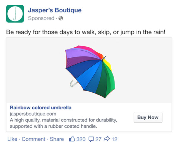 Dynamic product ads on Facebook
