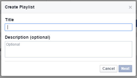 creating a video playlist on Facebook