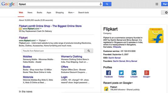 Flipkart knowledge graph