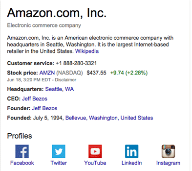 amazon knowledge graph