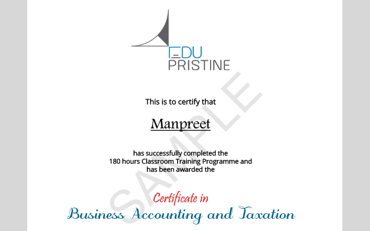 Business Accounting and Taxation Certification